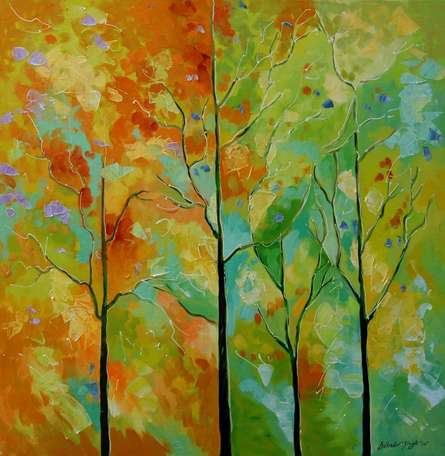 Nature Blend | Painting by artist Bahadur Singh | oil | Canvas
