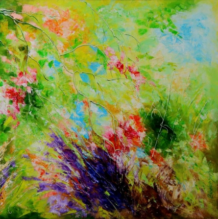 Nature Colors II | Painting by artist Bahadur Singh | oil | Canvas