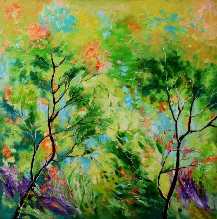 Nature Green II | Painting by artist Bahadur Singh | oil | Canvas