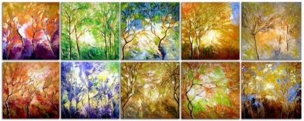 Seasons | Painting by artist Bahadur Singh | oil | Canvas