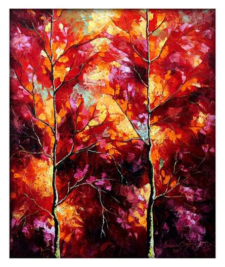 Season 1   Painting by artist Bahadur Singh   oil   Canvas