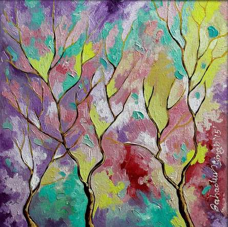 Season Amethyst | Painting by artist Bahadur Singh | oil | Canvas