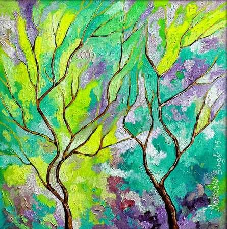 Minty Season | Painting by artist Bahadur Singh | oil | Canvas