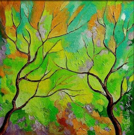 Season Emarald | Painting by artist Bahadur Singh | oil | Canvas