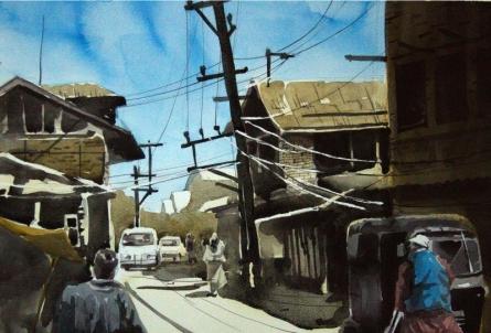 Aab Rang Kashmir 05 | Painting by artist Suhail Naqshbandi | watercolor | Paper
