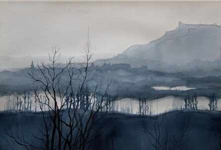 Aab Rang Kashmir 08 | Painting by artist Suhail Naqshbandi | watercolor | Paper