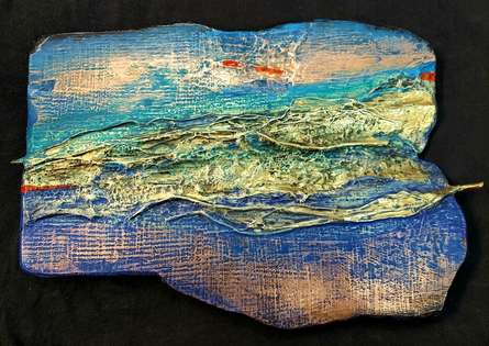 Mixed Media Painting titled 'Renewed Pathway' by artist Ami Patel on Copper And Brass
