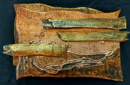 Mixed Media Painting titled 'Renewed Pathway 4' by artist Ami Patel on Copper And Brass