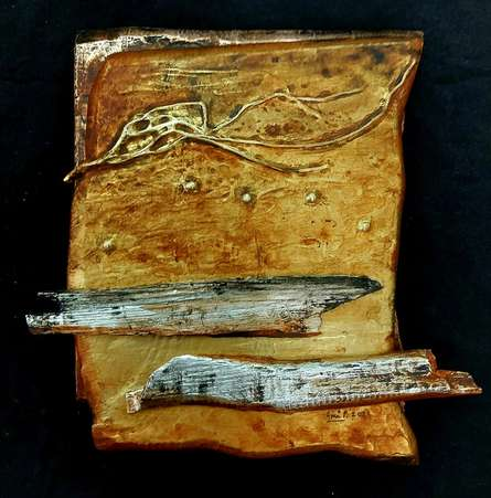 Mixed Media Painting titled 'Renewed Pathway 7' by artist Ami Patel on Copper And Aluminum