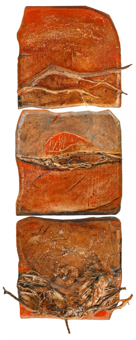 Mixed Media Painting titled 'Roots And Pathway 11' by artist Ami Patel on Copper