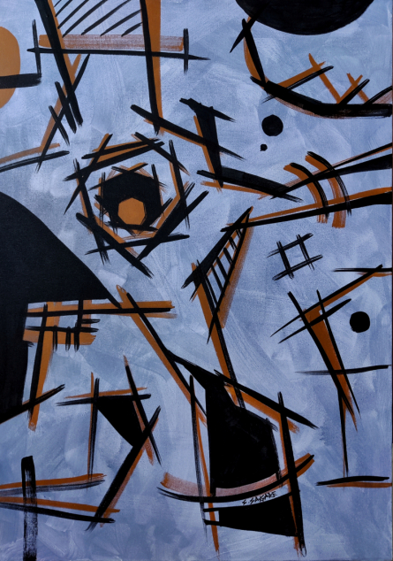Abstract Acrylic Art Painting title A Painting 2 by artist Sanket Sagare