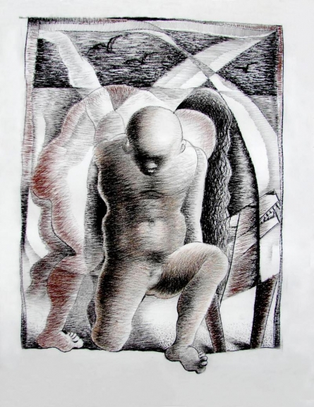 Carry To Convey | Drawing by artist Chandranath Banerjee | | dry-pastel | Paper