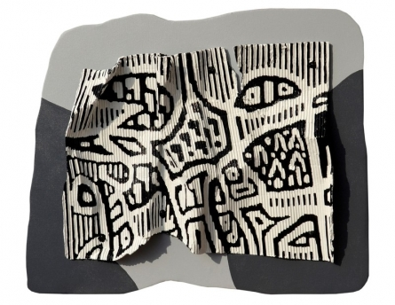 Abstract Mixed-media Art Painting title Melting Metamorphosis 4 by artist Bhuwal Prasad