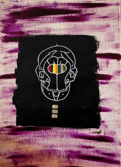 PolifeMo | Painting by artist Marco Antonio Abbagnara | mixed-media | CardBoard