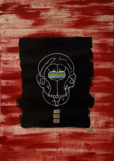 Marco Antonio Abbagnara | Sterope Mixed media by artist Marco Antonio Abbagnara on CardBoard | ArtZolo.com