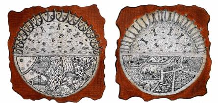 contemporary Mixed-media Art Painting title Life Of Naturally Coronavirus by artist Bitarka Majumder