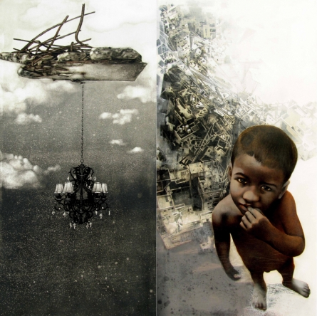 Figurative Mixed-media Art Painting title Deep Insight 1 by artist Guru Kinkar