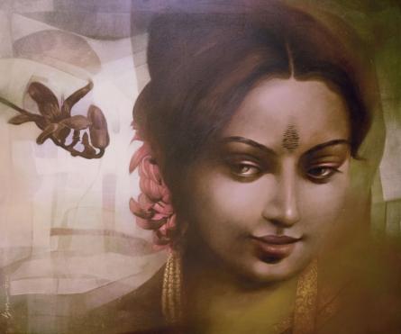 Figurative Acrylic Art Painting title Unseen Behind The Scene 1 by artist Guru Kinkar