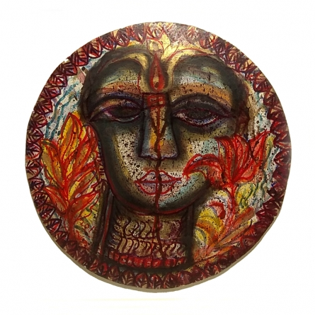 Religious Mixed-media Art Painting title Devi 1 by artist Rini Dhumal