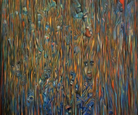contemporary Acrylic Art Painting title Behind The Soul by artist Thambi Sankaran