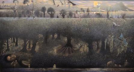 contemporary Acrylic Art Painting title Martha by artist Thambi Sankaran