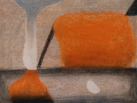 Abstract Soft-pastel Art Drawing title Untitled 2 by artist Chaitanya Dalvi