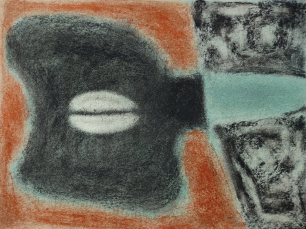 Abstract Soft-pastel Art Drawing title Untitled 3 by artist Chaitanya Dalvi