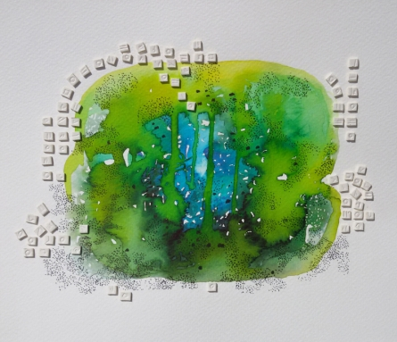 Abstract Mixed-media Art Painting title Untitled 6 by artist Jai Chouhan
