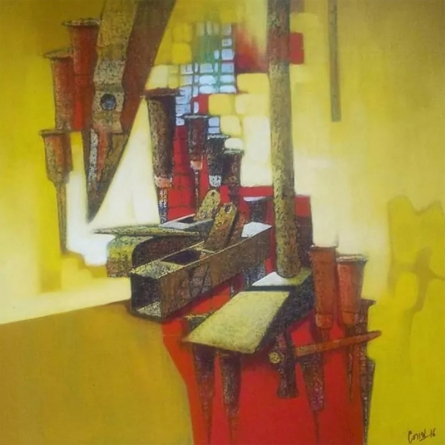 Abstract Acrylic Art Painting title Untitled 2 by artist Navnath Kshirsagar