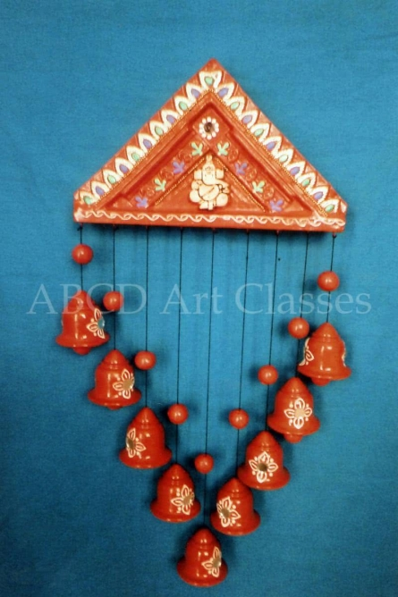 Ganesha Wind Chime | Terracotta Clay Handicraft | By ABCD- Any Body Can Draw Art Classes