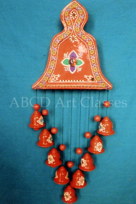 Flower Bells Wind Chime   Terracotta Clay Handicraft   By ABCD- Any Body Can Draw Art Classes