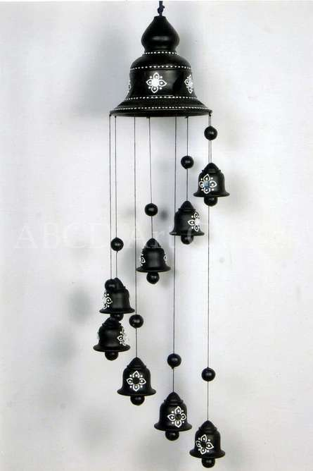 Long Hanging Wind Chime | Terracotta Clay Handicraft | By ABCD- Any Body Can Draw Art Classes