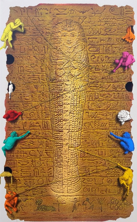 Figurative Acrylic Art Painting title Mystical Life by artist Gourishankar Soni