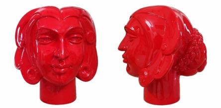 Paint on Fiberglass Sculpture titled 'Face 1' by artist Dvs Krishna