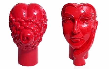 Paint on Fiberglass Sculpture titled 'Face 3' by artist Dvs Krishna