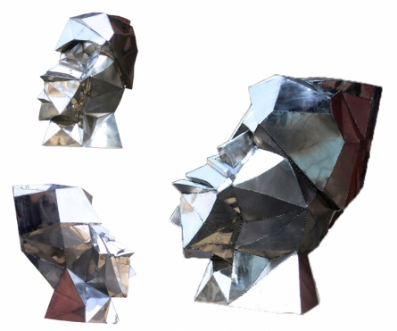 Stainless Steel Sculpture titled 'Emotions' by artist Swapnil Godase