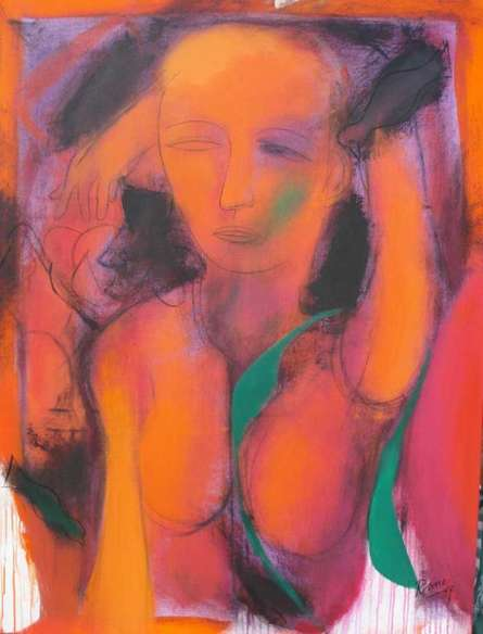 Figurative Acrylic Art Painting title D S Rane Artwork by artist D.S. Rane