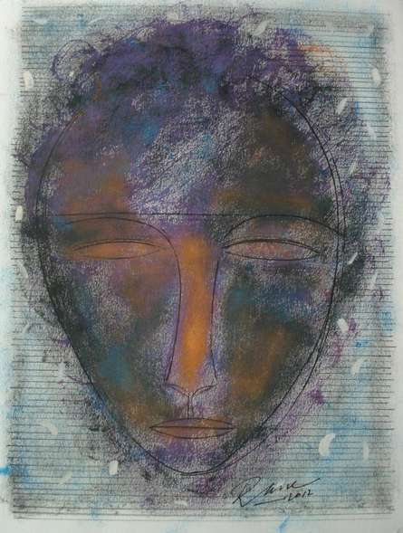 Face 1   Painting by artist D S Rane   mixed-media   Paper