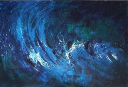 Breathing Blue | Painting by artist Sanjay Akolikar | acrylic | Canvas