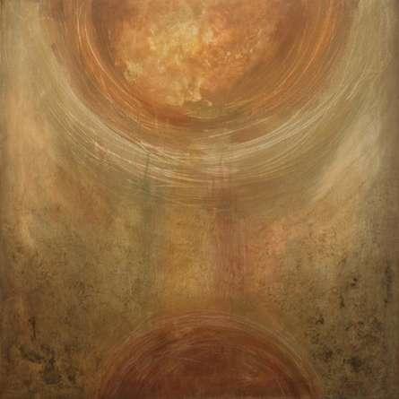 Abstract Acrylic Art Painting title 'Communication' by artist Sanjay Akolikar