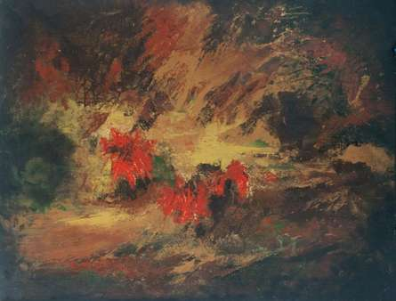Abstract Acrylic Art Painting title 'Facing The Black' by artist Sanjay Akolikar