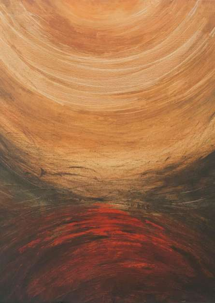 Abstract Acrylic Art Painting title 'Journey' by artist Sanjay Akolikar
