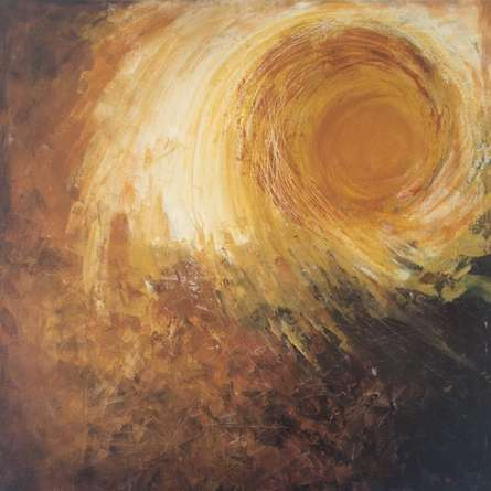 Abstract Sun | Painting by artist Sanjay Akolikar | acrylic | Canvas