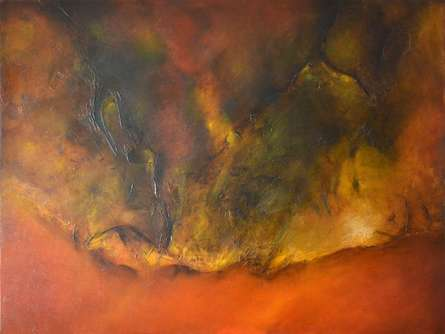 Sanjay Akolikar | Oil Painting title Composition 17 on Canvas | Artist Sanjay Akolikar Gallery | ArtZolo.com