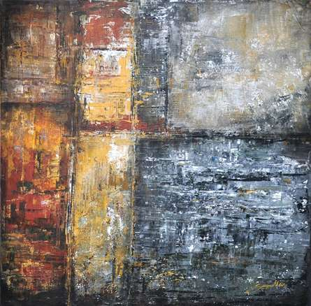 Untitled 13 | Painting by artist Sanjay Akolikar | acrylic | Canvas