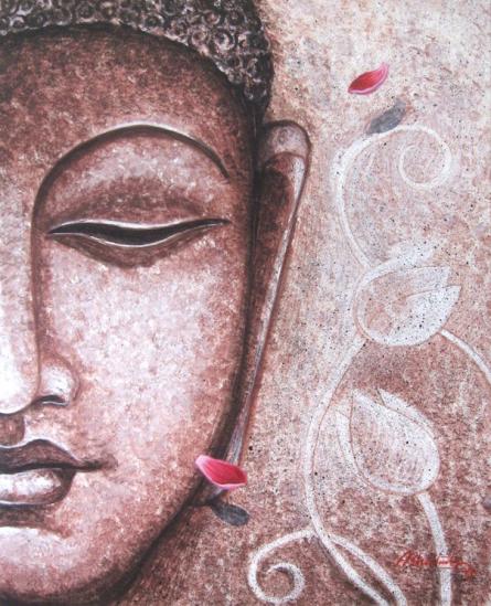 Buddha2 | Painting by artist Abhijit Bhattacharya | acrylic | Canvas
