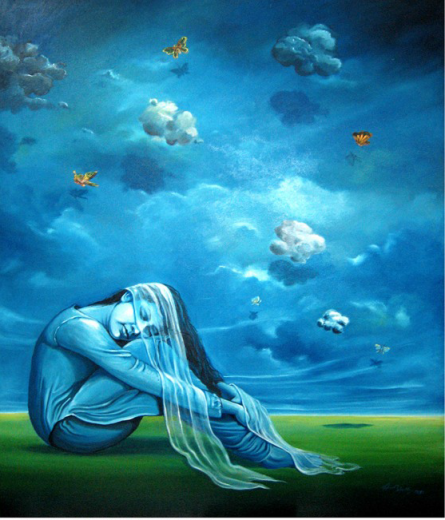 Dream Girl | Painting by artist Abhijit Bhattacharya | oil | Canvas
