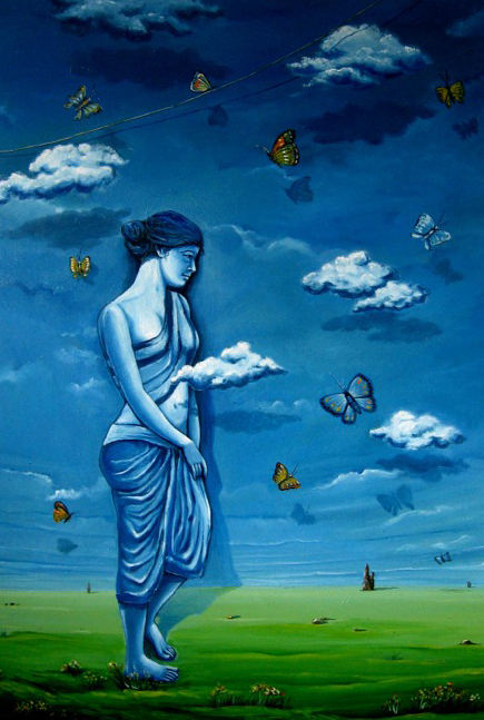 Dream 1 | Painting by artist Abhijit Bhattacharya | oil | Canvas