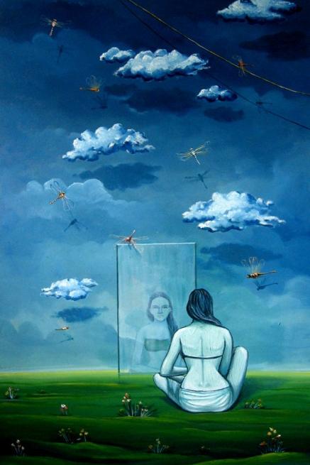 Dream 2   Painting by artist Abhijit Bhattacharya   oil   Canvas