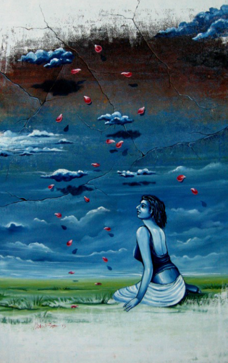 Dream 3 | Painting by artist Abhijit Bhattacharya | oil | Canvas